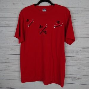 "Jerzees red ladybug ""mom"" t-shirt"